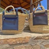ÚLTIMAS UNIDADES.  Disponible en: www.dancrisbags.com   Edición limitada.  CHLOE, con forro interior de tela cosido a la cesta, asa y bolsillo en piel de tonos marrón y azul con acabado de pintura en negro.  . . . . .  .  #artesania #capazospersonalizados #verano #love #capazos #bolsos #moda #bag #fashion #leather #cestas #happy #design #bag #piel #bolsospiel #españa #andalucia #cadiz #ubrique #style #branding #cuir #beautiful #photooftheday #zara #madeinspain #madeinubrique #dancris #dancrisbags